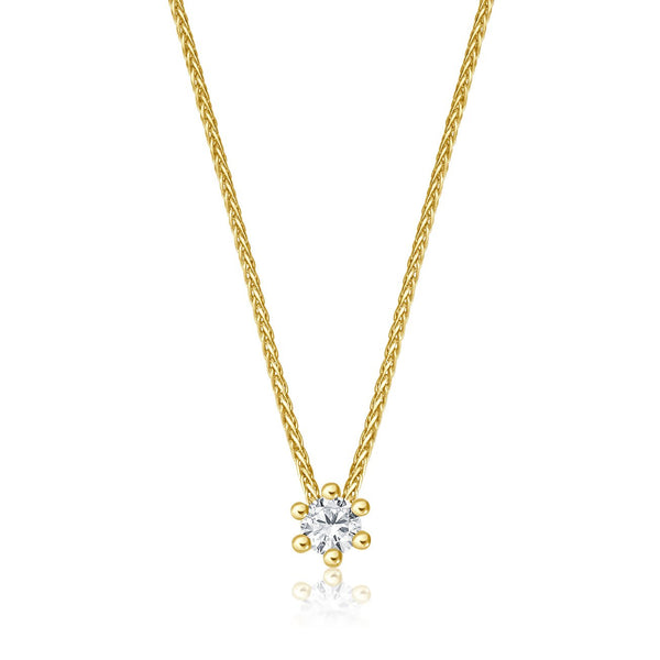 Solitaire Necklace - Gelbgold mit 0,10 ct Brillant Lupenrein
