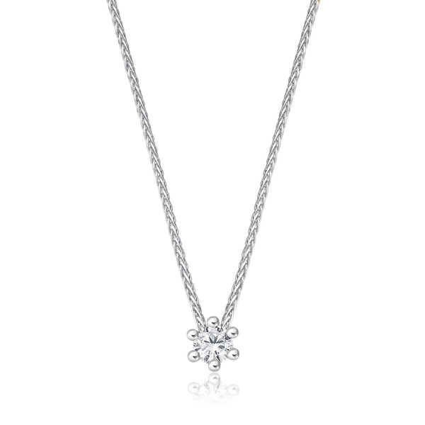 Solitaire Necklace - Weissgold mit 0,10 ct Brillant Lupenrein