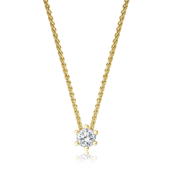 Solitaire Necklace - Gelbgold mit 0,20 ct Brillant Lupenrein