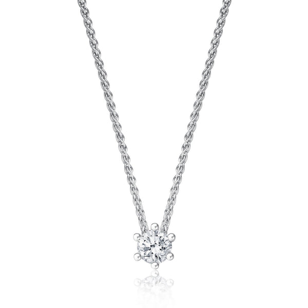 Solitaire Necklace - Weissgold mit 0,20 ct Brillant Lupenrein