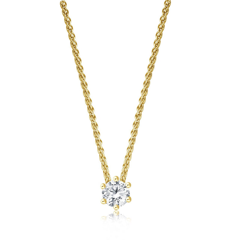 Solitaire Necklace - Gelbgold mit 0,30 ct Brillant Lupenrein