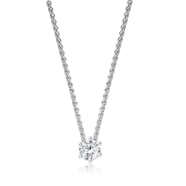 Solitaire Necklace - Weissgold mit 0,30 ct Brillant Lupenrein