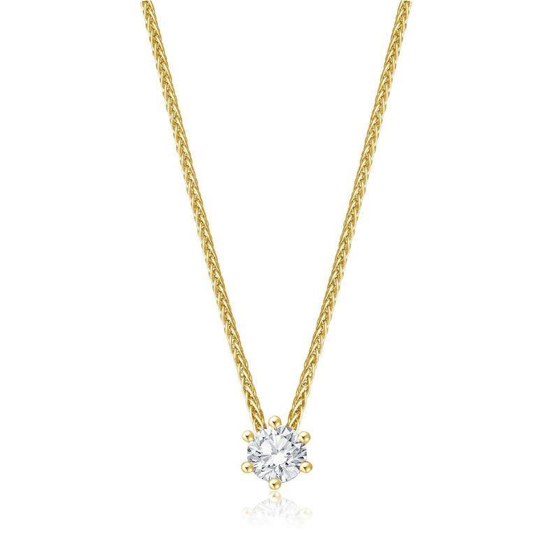 Solitaire Necklace - Gelbgold mit 0,40 ct Brillant Lupenrein