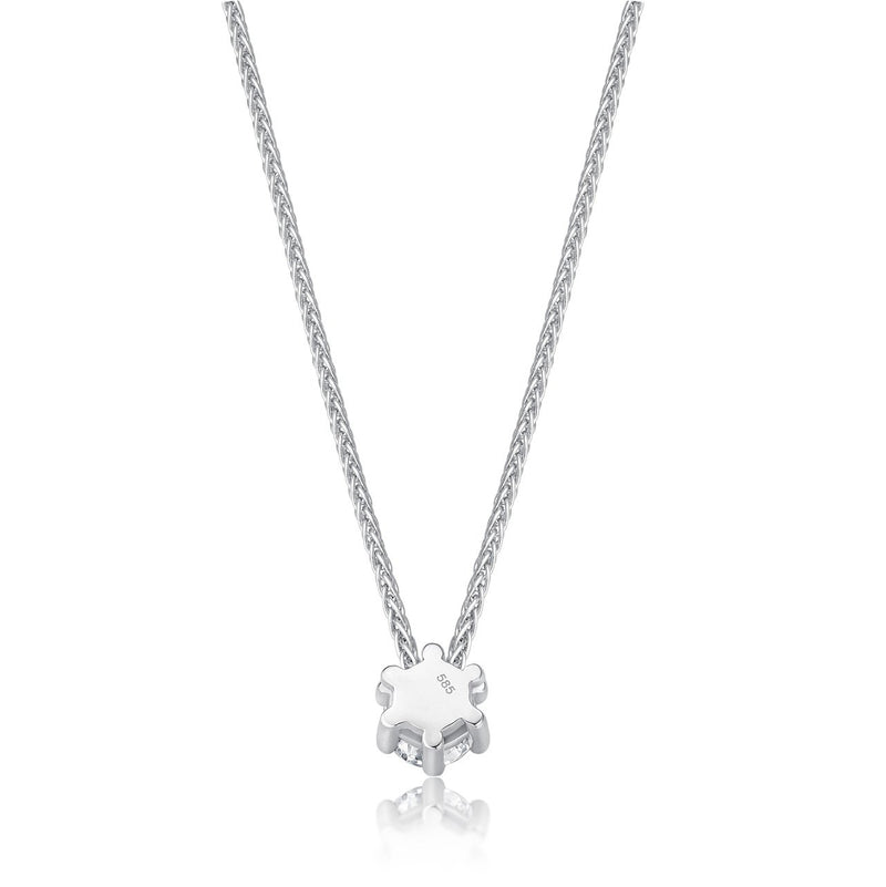 Solitaire Necklace - Weissgold mit 0,40 ct Brillant Lupenrein