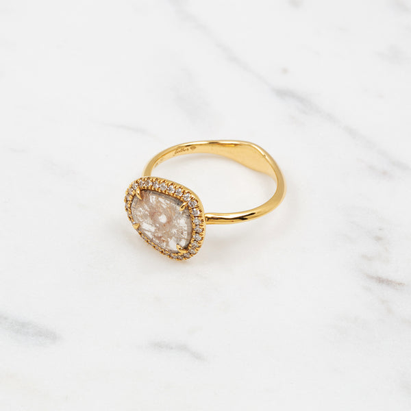 Rough Diamond Ring - Gelbgold