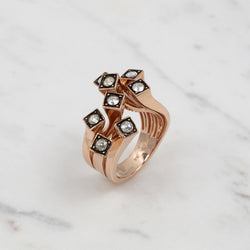 Vintage Tower Diamant Ring - Roségold