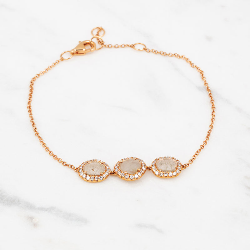 Rough Diamond Armband - Roségold