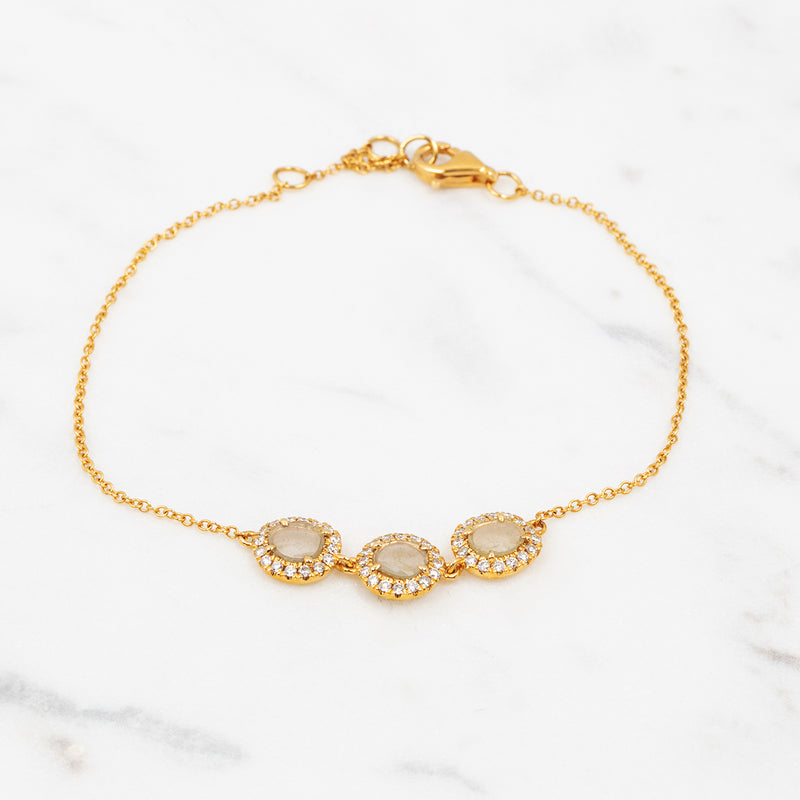 Rough Diamond Armband - Gelbgold