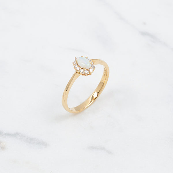 Entourage Opal Ring - Gelbgold