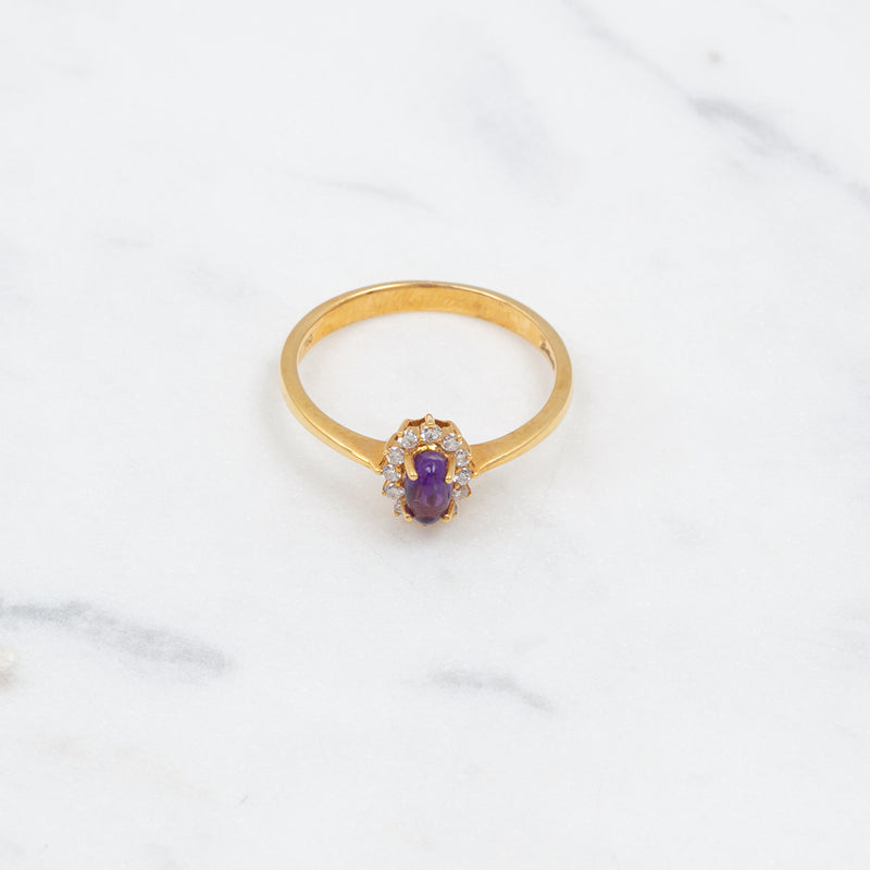 Entourage Amethyst Ring - 0,27 ct - Gelbgold