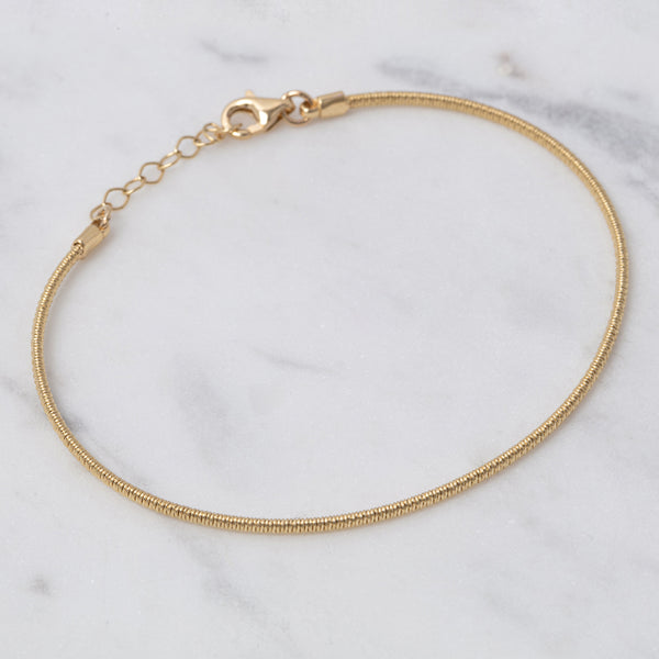 Gold Wire Armband - Gelbgold