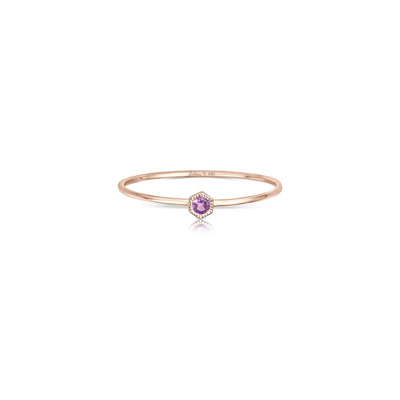 Filigraner Ring - 0,04 ct Saphir Pink - Roségold