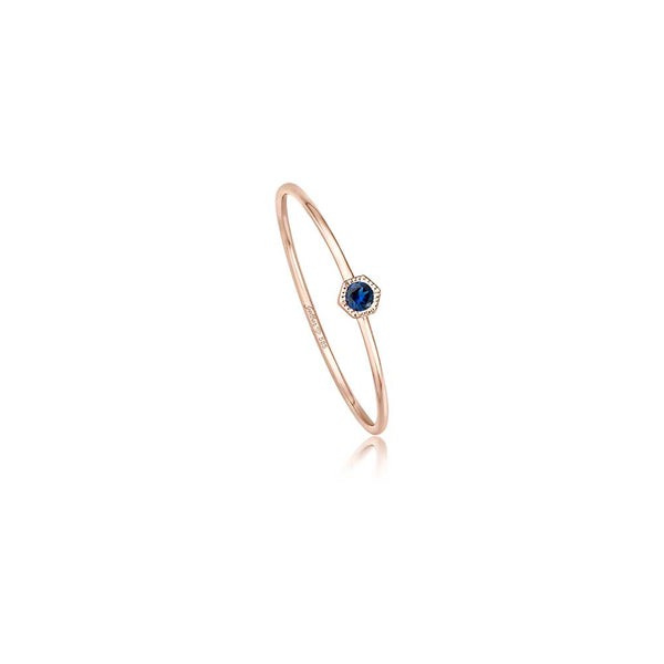 Filigraner Ring - 0,04 ct Saphir - Rosegold