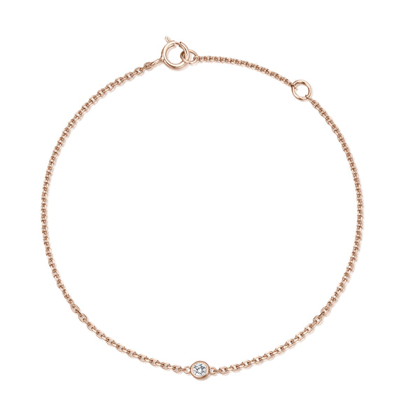 One-Diamond Armband - Roségold mit Brillant 0,03ct.