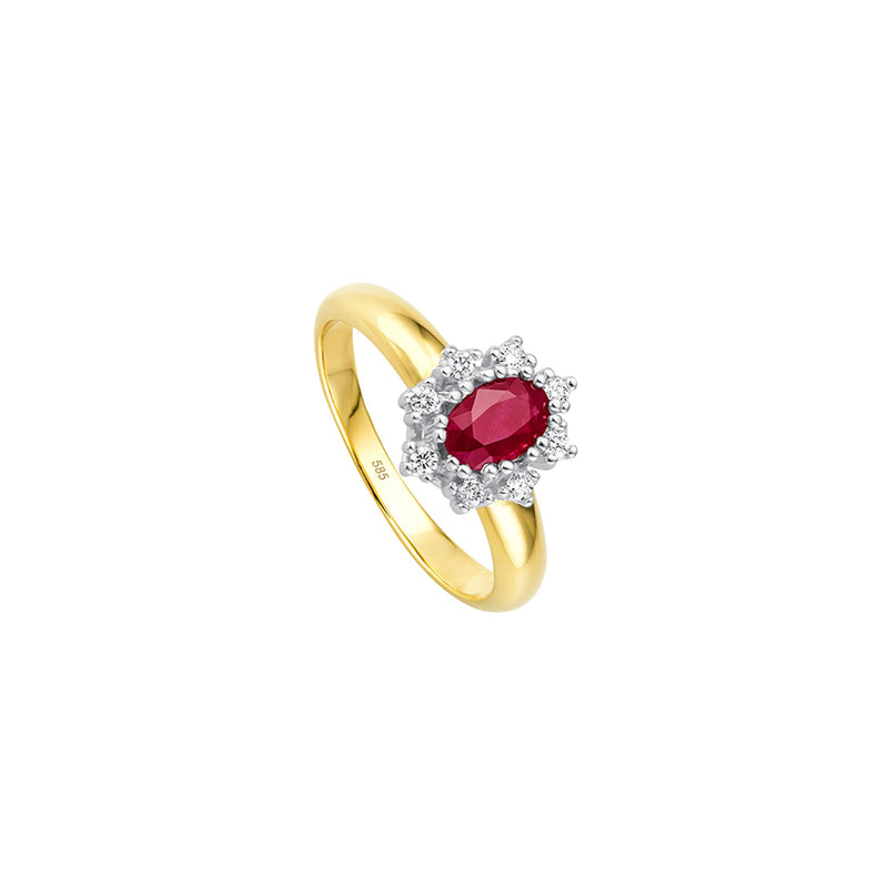 Entourage Rubin Ring - 0,20 ct - Bicolor