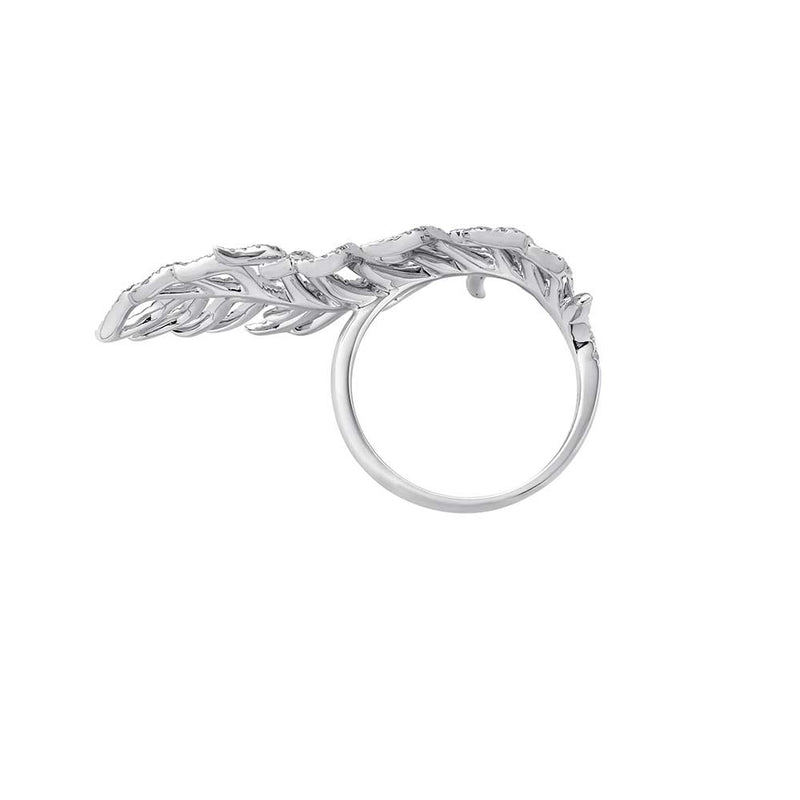 Feather Ring mit Brillanten - Weißgold
