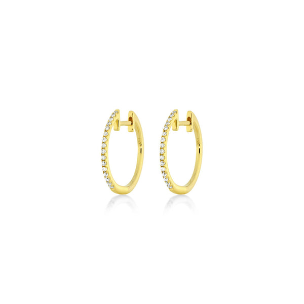 Small Diamond Hoops - Gelbgold