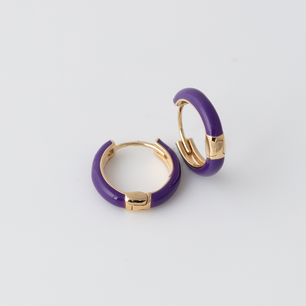 Emaile Hoops - Lila - Gelbgold