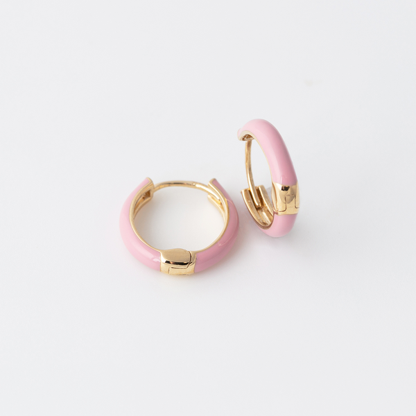 Emaile Hoops - Rosa - Gelbgold