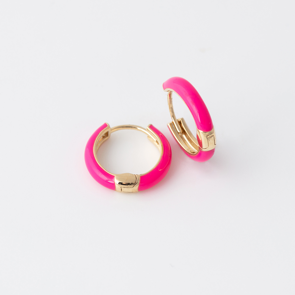 Emaile Hoops - Pink - Gelbgold