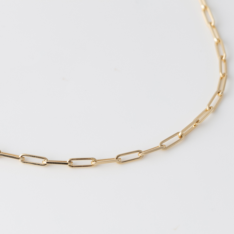 Gold Anchor Choker - 3mm - Gelbgold