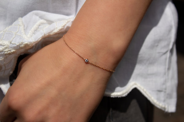 One-Diamond Armband - Roségold mit Brillant 0,06ct.