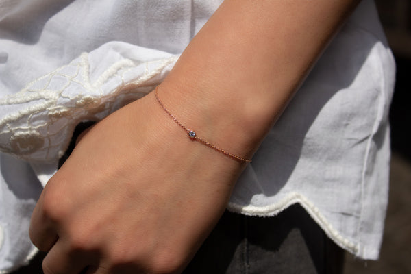 One-Diamond Armband - Roségold mit Brillant 0,03 ct