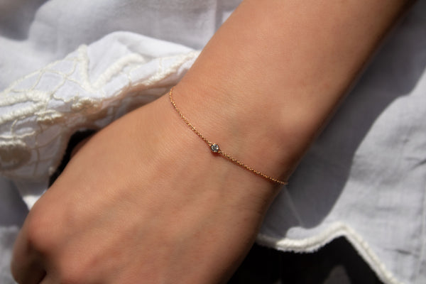 One-Diamond Armband - Gelbgold mit Brillant 0,06ct.