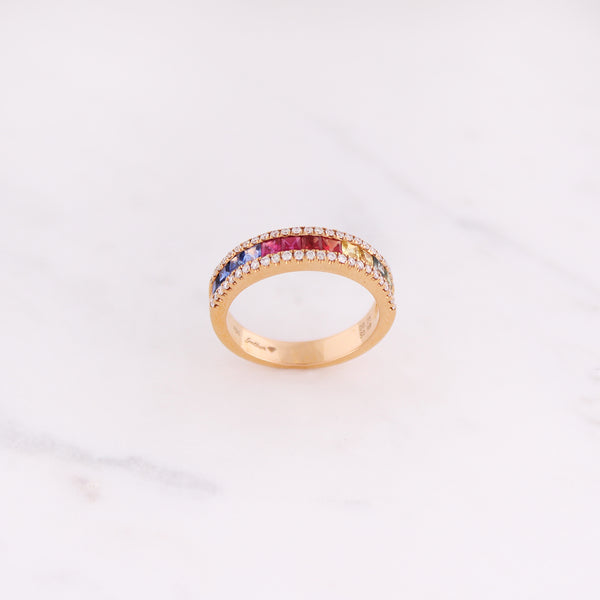 Rainbow Ring - Roségold