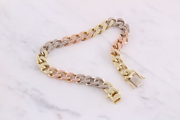 Curb Chain Armband - 6mm - Tricolor