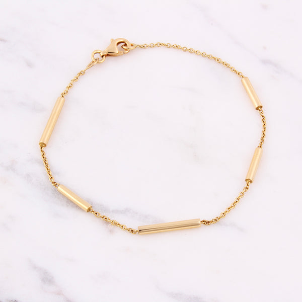 Gold Bar Armband - Gelbgold