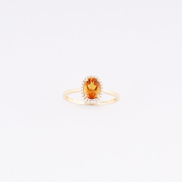 Entourage Citrin Ring - 0,70 ct - Gelbgold