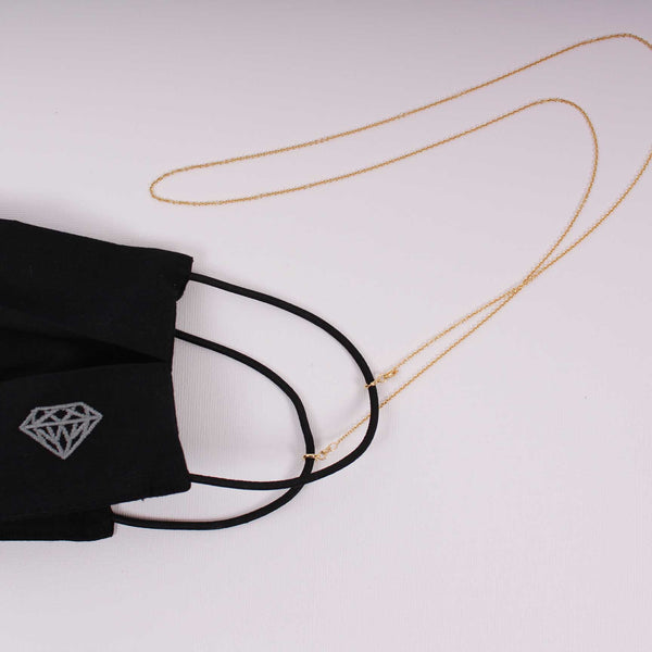 Gold Mask Chain - Gelbgold