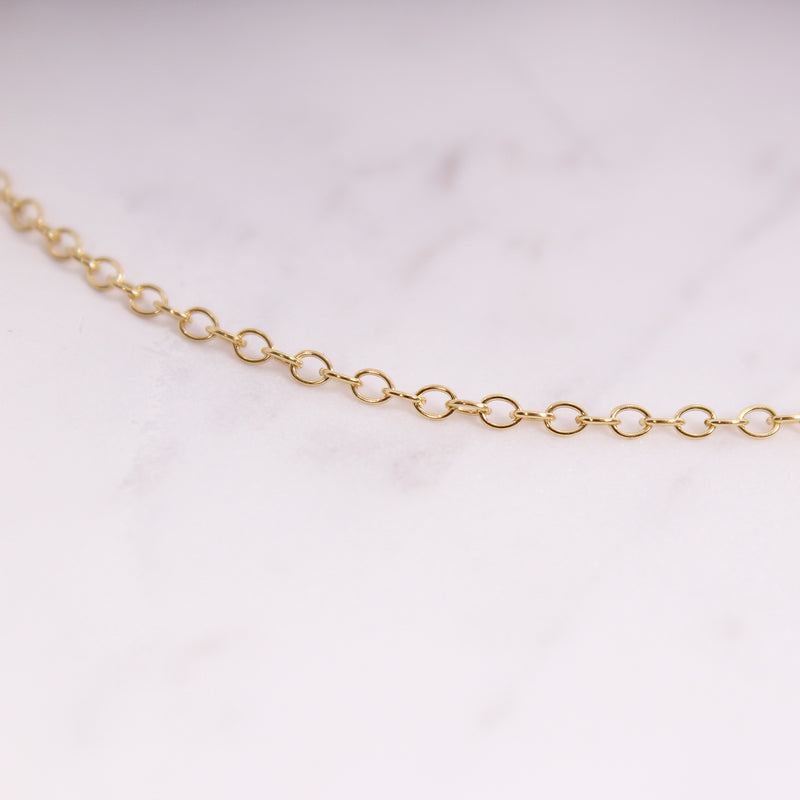 Cable Chain Halskette - Gelbgold