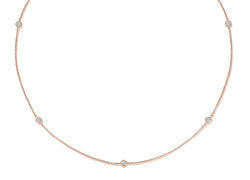 Diamond Necklace - 0,25 ct  - Roségold