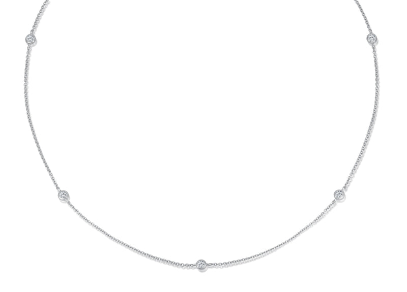 Diamond Necklace - 0,25 ct - Weißgold