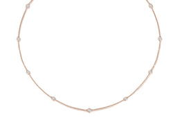 Diamond Necklace - 0,70 ct - Roségold