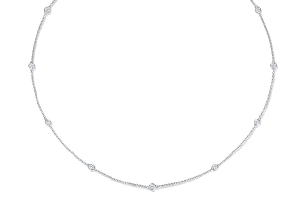 Diamond Necklace - 0,74 ct - Weißgold