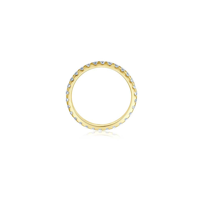 Voll-Memoire Diamant Ring - 1,05 ct - Gelbgold
