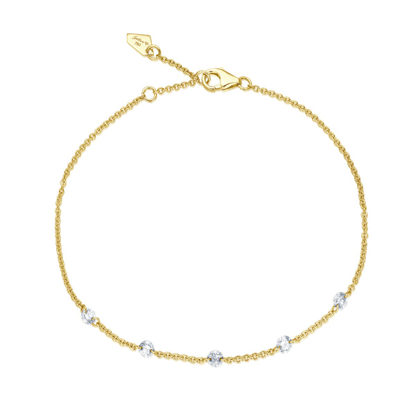 Diamond Drop Armband - Gelbgold