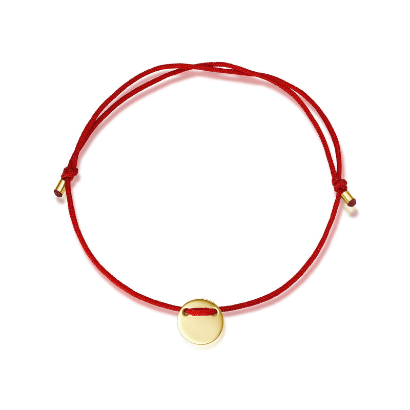 Mini-Plate Stoff Armband - for Him - Gelbgold