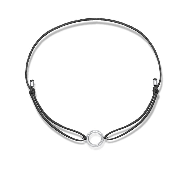 Diamond Circle Stoff Armband - Weißgold