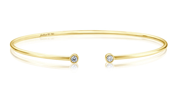 Double Diamond Armreif - Gelbgold