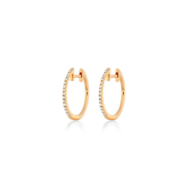Small Diamond Hoops - Roségold