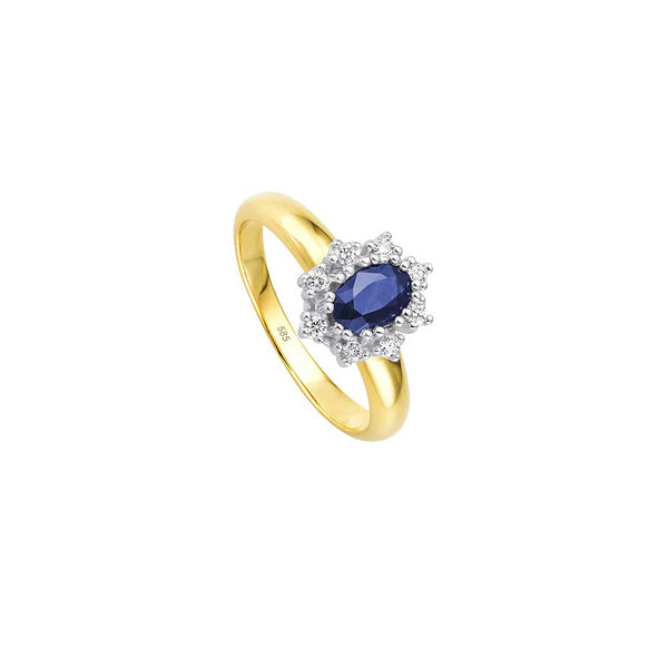 Entourage Saphir Ring - 0,20 ct - Bicolor