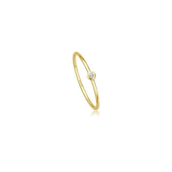 Filigraner Diamant Ring - 0,02 ct Brillant - Gelbgold