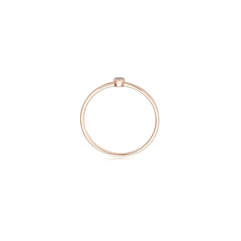 Filigraner Diamant Ring - 0,02 ct Brillant - Roségold