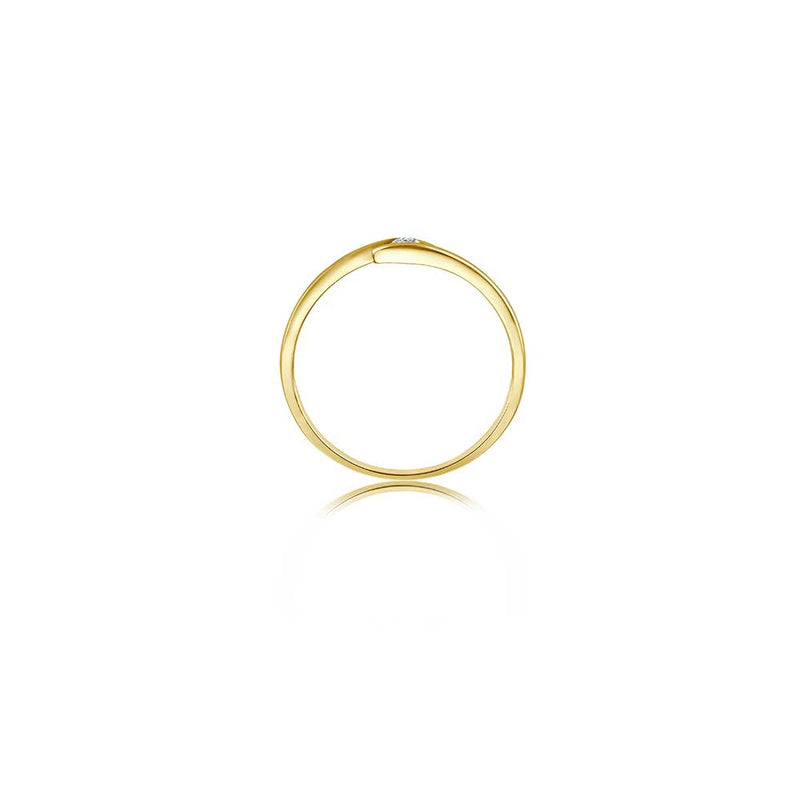 Zen Diamond Ring - 0,05 ct - Gelbgold