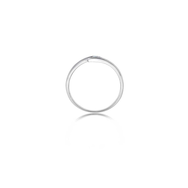Zen Diamond Ring - 0,05 ct - Weißgold