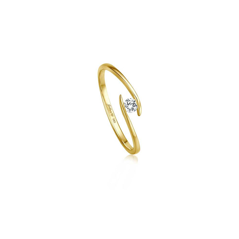 Zen Diamond Ring - 0,10 ct - Gelbgold